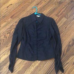 Emporio Armani Black Silk Blouse - Great Details